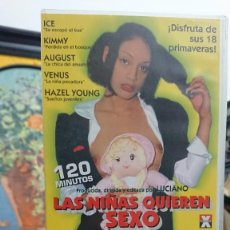 Peliculas: LAS NIÑAS QUIEREN SEXO - VHS - LUCIANO - ICE, KIMMY, AUGUST - ELEPHANT CHANNEL. Lote 293817138
