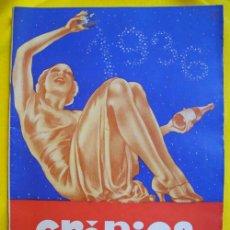 Revistas: CRÓNICA. EXTRAORDINARIO DE AÑO NUEVO. 1936. FEDERICO RIBAS, BAYO, FOTOS ERÓTICAS POR MANASSÉ. Lote 17868455