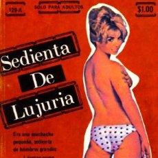 Revistas: SEDIENTA DE LUJURIA - NOVELITA PORNO SEX - FIESTA PUBLISHING - USA - 1977. Lote 27300559