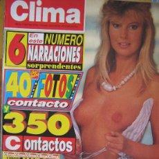 Revistas: REVISTA CLIMA NUMERO 746 PRECIO 195 PESETAS VER FOTO ES LA MISMA. Lote 28007274