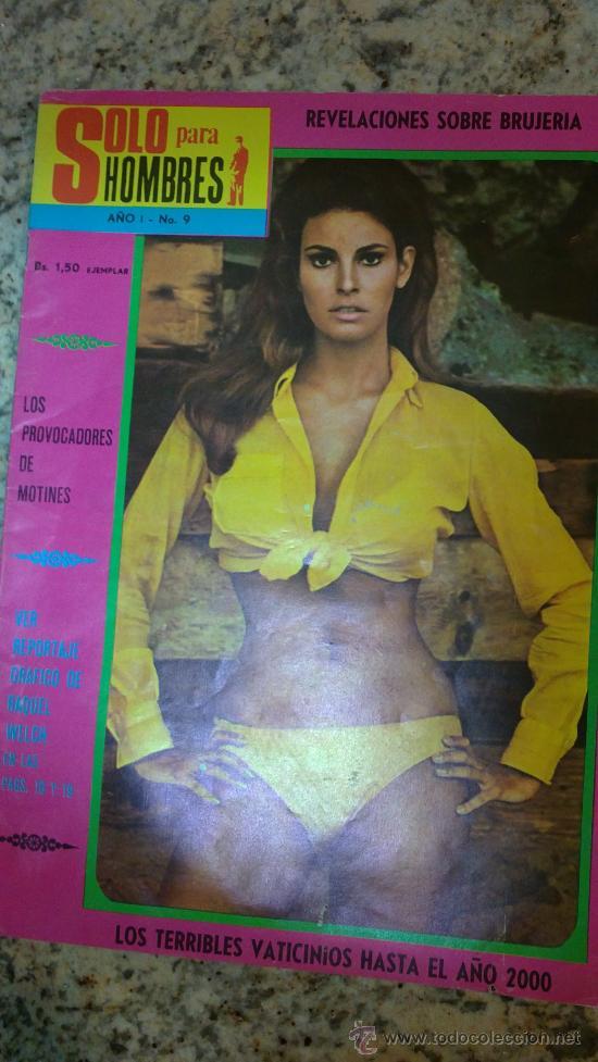 SOLO PARA HOMBRES.Nº9,AÑOS;70-REVISTA DE VENEZUELA.(RAQUEL WELCH,BRUJERIA,ETC..) (Coleccionismo para Adultos - Revistas)