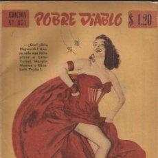 Revistas: REVISTA EROTICA-POBRE DIABLO NUM.371-1953-RITA HAYWORTH-. Lote 29826034