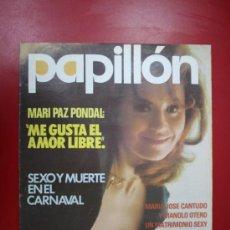 Revista Erótica Papillón Año I Numero 8 Marzo 1976 Portada Mari Paz Pondal Con Póster Central