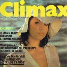 Revistas: REVISTA CLIMAX - Nº 11 - AÑO I - MAYO 1977 - ÀNGELA MOLINA - LAS CHICAS DEL CRAZY HORSE. Lote 33010538