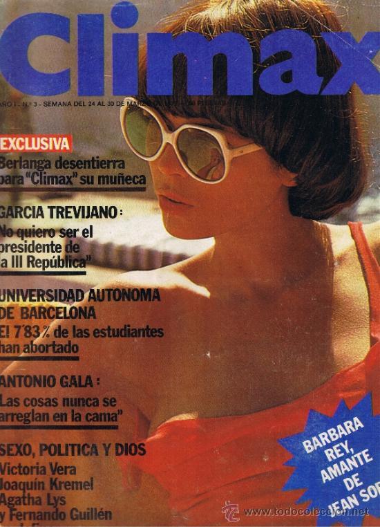 REVISTA CLIMAX - Nº 3 - AÑO I - MARZO 1977 - BÁRBARA REY - VICTORIA VERA - AGATHA LIS (Coleccionismo para Adultos - Revistas)