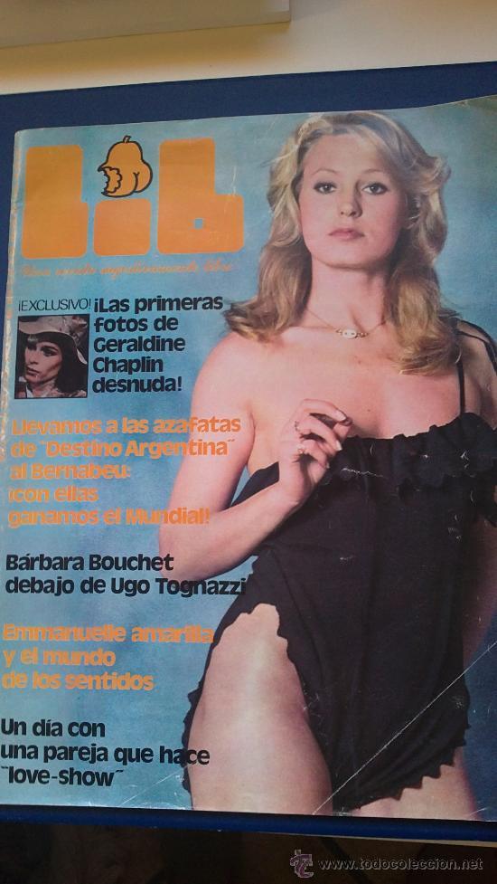 Revista Libnºmayo 78geraldine Chaplinprimeras Fotos Desnuda