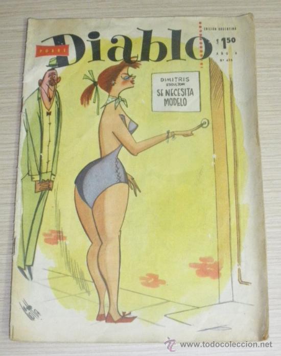REVISTA EROTICA Y DE HUMOR - POBRE DIABLO - NUM. 475, EDICION ARGENTINA, 26 PAG. (Coleccionismo para Adultos - Revistas)