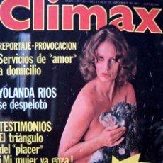 Revistas: REVISTA CLIMAX Nº 26 / NADIUSKA, YOLANDA RIOS, ANALIA GADE, BELINDA COREL, DICCIONARIO SEXUAL Y +++. Lote 133914314
