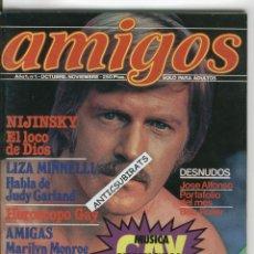 Revistas: LA PRIMERA REVISTA GAY PUBLICADA EN ESPAÑA AÑO 1980 AMIGOS NUMERO 1 EROTICA JOSE ALFONSO BOB ROLLER. Lote 43094515