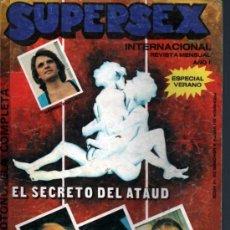 Revistas: SUPERSEX INTERNACIONAL ESPECIAL VERANO PORNO FOTONOVELA. EL SECRETO DEL ATAUD. Lote 48412980