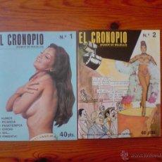 Revistas: EL CRONOPIO. LOTE REVISTAS 1 Y 2, DE 1976. REVISTA SATÍRICO ERÓTICA DE LOS AÑOS 70. NUEVAS, SIN USO. Lote 50042337