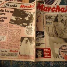 Revistas: REVISTA MARCHA 1980 EROTICA - BRIGITTE BARDOT,MARIA SALERNO ANTONIO GARISA SOFIA LOREN ROSA VALENTY. Lote 50917921