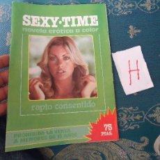 Revistas: ANTIGUA REVISTA EROTICA PORNOGRAFICA - NOVELA EROTICA A COLOR SEXY TIME RAPTO CONSENTIDO 1978. Lote 50941776
