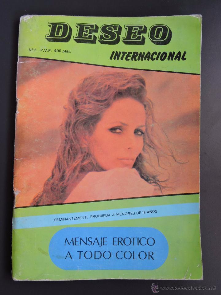 REVISTA DESEO INTERNACIONAL Nº 5 - AÑOS 80 - SOLO PARA ADULTOS - PORNO VINTAGE - 64 PAG COLOR (Coleccionismo para Adultos - Revistas)