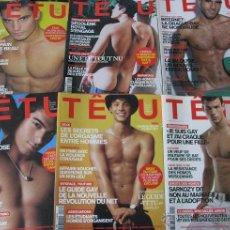 Revistas: LOTE 6 REVISTAS GAY FRANCESAS (TÊTU). Lote 54509967
