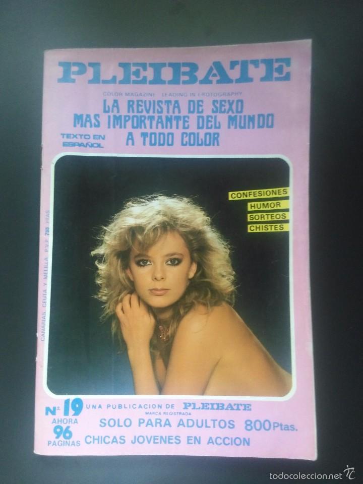 REVISTA PORNO VINTAGE - 1986 - PLEIBATE Nº 19 - 96 PÁG COLOR - SÓLO PARA ADULTOS (Coleccionismo para Adultos - Revistas)