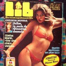 Revistas: REVISTA LIB / PAMELA SUE MARTIN, DINASTIA TV SERIES, GAY, HOMOSEXUALIDAD EN EL CINE EN 16 PÁGINAS. Lote 58511699