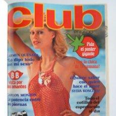 Revistas: REVISTA ERÓTICA CLUB PRIVADO 1 A 10 ENCUADERNADOS EN UN TOMO. ED ZETA, 1978. PUBLICACIÓN PARA ADULTO. Lote 59992923