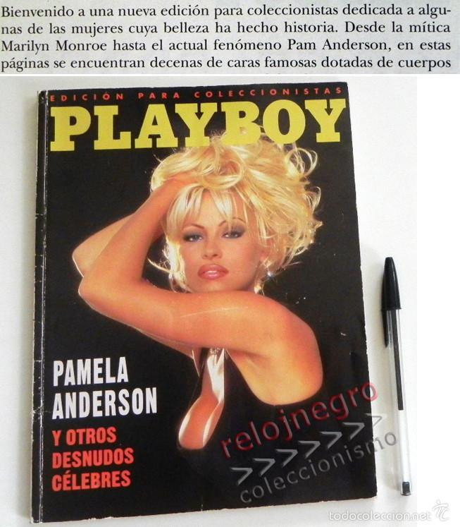 PLAYBOY EDICIÓN COLECCIONISTAS PAMELA ANDERSON Y OTROS DESNUDOS CÉLEBRES REV ERÓTICA MONROE CRAWFORD (Coleccionismo para Adultos - Revistas)
