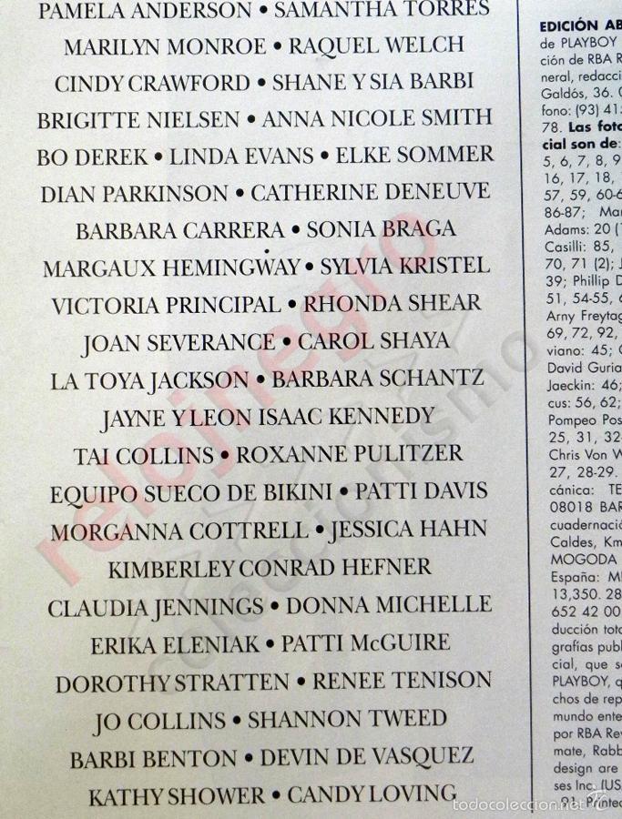 Revistas: PLAYBOY EDICIÓN COLECCIONISTAS PAMELA ANDERSON Y OTROS DESNUDOS CÉLEBRES REV ERÓTICA MONROE CRAWFORD - Foto 4 - 60358119