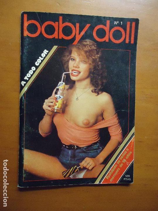 ANTIGUA REVISTA PORNO PORNOGRAFICA SEXO BABY DOLL N 1 - 1985 A TODO COLOR (Coleccionismo para Adultos - Revistas)