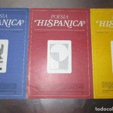 Revistas: LOTE 6 FASCÍCULOS-POESÍA HISPÁNICA-5 DE 1976+1 EXTRA 1977BUEN ESTADO-COLECCIONISTAS-VER FOTOS.. Lote 81353128