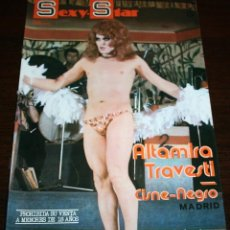 Revistas: SEXY-STAR Nº 3 - ALTAMIRA TRAVESTI; CISNE NEGRO... - 1977. Lote 86330840