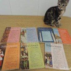 Revistas: SELECCIONES READERS DIGEST AÑOS 50 LOTE 7UDS. Lote 89274564