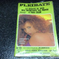Revistas: PLEIBATE Nº 23 REVISTA EROTICA DE LOS AÑOS 90. Lote 95299323