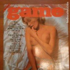 Revistas: ANTIGUA REVISTA PORNO PORNOGRAFICA ADULTOS - GAME VOL. 4 NUMERO 3 AÑO 1977. Lote 98675547