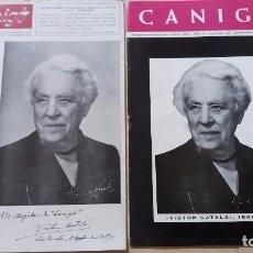 Revistas: LOTE 2 REVISTAS CANIGO DEDICADAS A VICTOR CATALA 1959 Y 1966. Lote 98780719