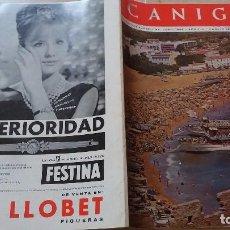 Revistas: REVISTA CANIGO JUNIO 1966 100 PAGINAS COSTA BRAVA. Lote 98783351
