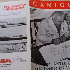 Revistas: REVISTA CANIGO MARZO 1970. NUMERO 193. RAFAEL ALBERTI. Lote 98783687