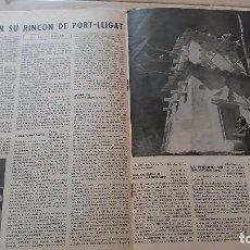 Revistas: REVISTA CANIGO 57. 1958. SALVADOR DALI EN SU RINCON DE PORT LLIGAT. Lote 98784395