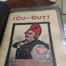 Revistas: LOTE 12 REVISTAS CU-CUT ( 1902,1905,1906 ). Lote 107495867