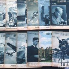 Revistas: AERO-REVUE SUISSE AÑO 1942, AVIACION AEROMODELISMO VUELO SIN MOTOR JUGUETES MAQUETAS AVIONES USA. Lote 111965299