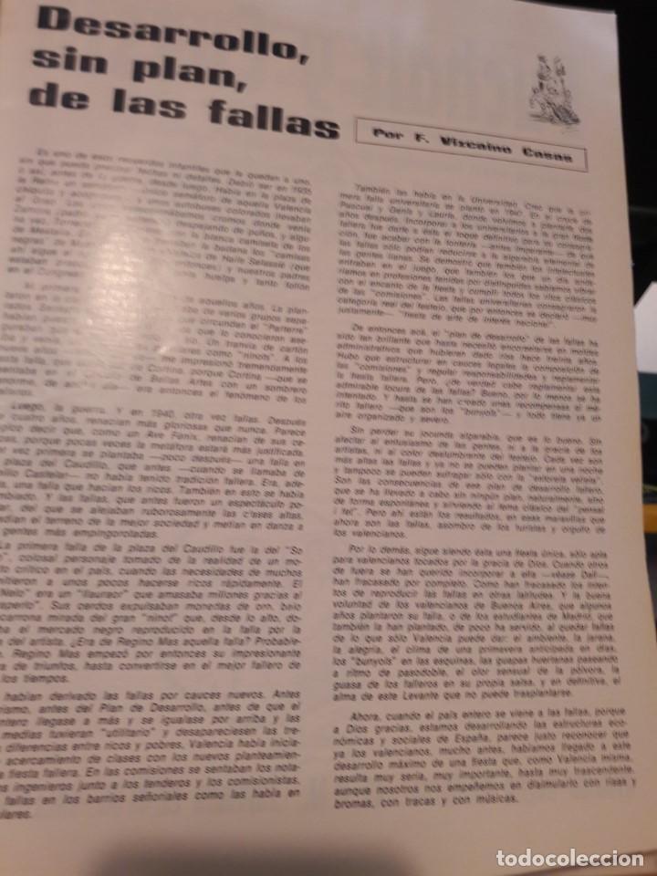 Revistas: Revista El Pregó Faller. Fallas de Valencia. Número 1 (Año 1, Época 1ª). Original de Marzo de 1967. - Foto 3 - 117328079