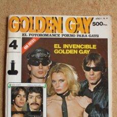 Revistas: REVISTA GOLDEN GAY. AÑO I. Nº 4. EL FOTORROMANCE PORNO PARA GAYS. EL INVENCIBLE GOLDEN GAY.. Lote 118915615