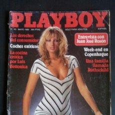 Revistas: REVISTA PLAYBOY NÚMERO 43, AÑO 1982. INCLUYE POSTER CENTRAL. Lote 120840587