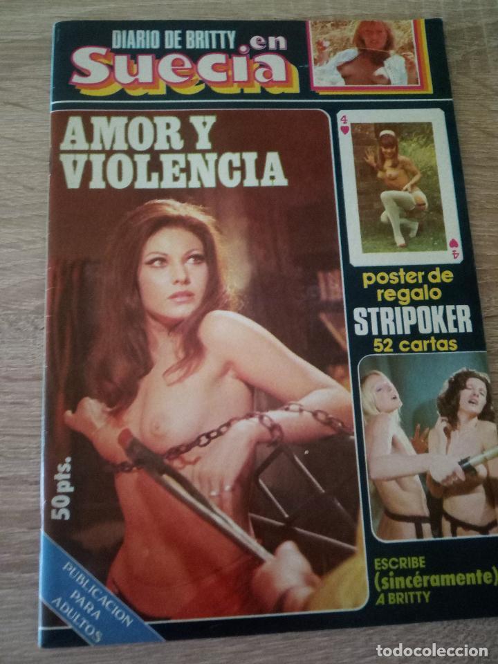 DIARIO DE BRITTY EN SUECIA - 1977 (Coleccionismo para Adultos - Revistas)