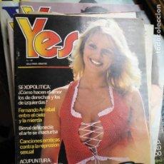Revistas: ANTIGUA REVISTA EROTICA YES - ADULTOS . Lote 121910843