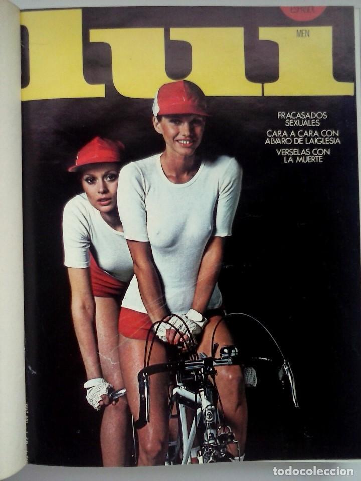 REVISTAS LUI - TOMO CON 6 EJEMPLARES ENCUADERNADOS - NÚMEROS 1 AL 6 - AÑO 1977 - TAPA DURA (Coleccionismo para Adultos - Revistas)