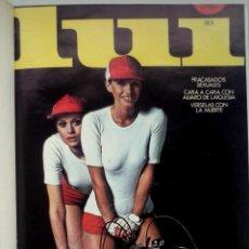 Revistas: REVISTAS LUI - TOMO CON 6 EJEMPLARES ENCUADERNADOS - NÚMEROS 1 AL 6 - AÑO 1977 - TAPA DURA. Lote 135460846