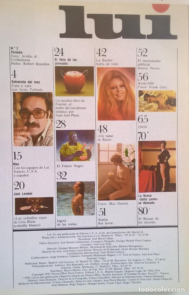 Revistas: REVISTAS LUI - TOMO CON 6 EJEMPLARES ENCUADERNADOS - NÚMEROS 1 AL 6 - AÑO 1977 - TAPA DURA - Foto 4 - 135460846