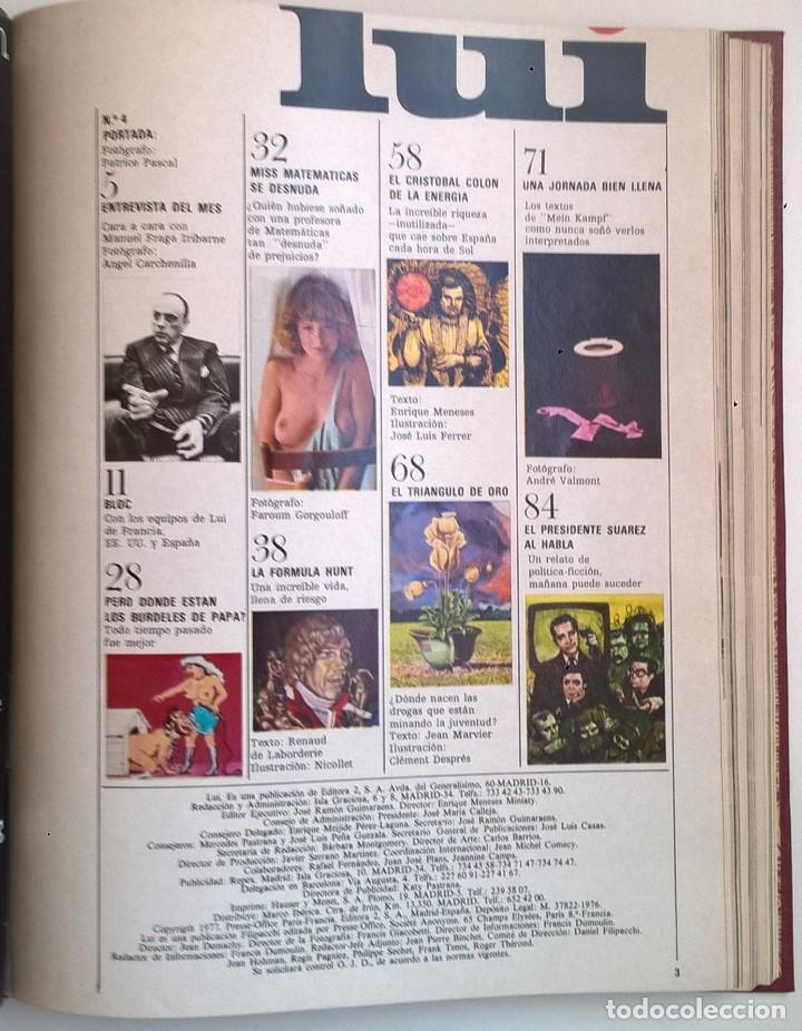Revistas: REVISTAS LUI - TOMO CON 6 EJEMPLARES ENCUADERNADOS - NÚMEROS 1 AL 6 - AÑO 1977 - TAPA DURA - Foto 10 - 135460846
