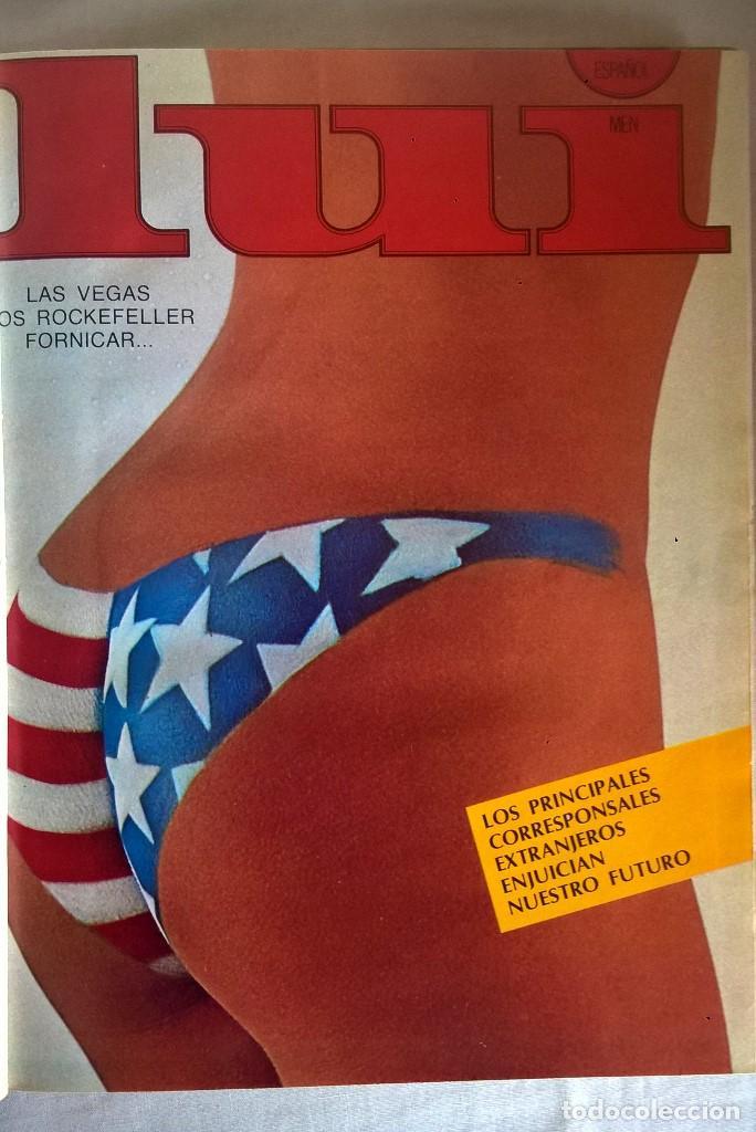 ANTIGUA REVISTA ERÓTICA LUI - TOMO CON SEIS EJEMPLARES ENCUADERNADOS ( Nº 7 AL 12 ) - AÑO 1977 (Coleccionismo para Adultos - Revistas)