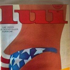 Revistas: ANTIGUA REVISTA ERÓTICA LUI - TOMO CON SEIS EJEMPLARES ENCUADERNADOS ( Nº 7 AL 12 ) - AÑO 1977. Lote 135462170