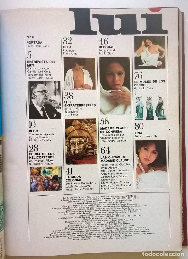 Revistas: ANTIGUA REVISTA ERÓTICA LUI - TOMO CON SEIS EJEMPLARES ENCUADERNADOS ( Nº 7 AL 12 ) - AÑO 1977 - Foto 6 - 135462170