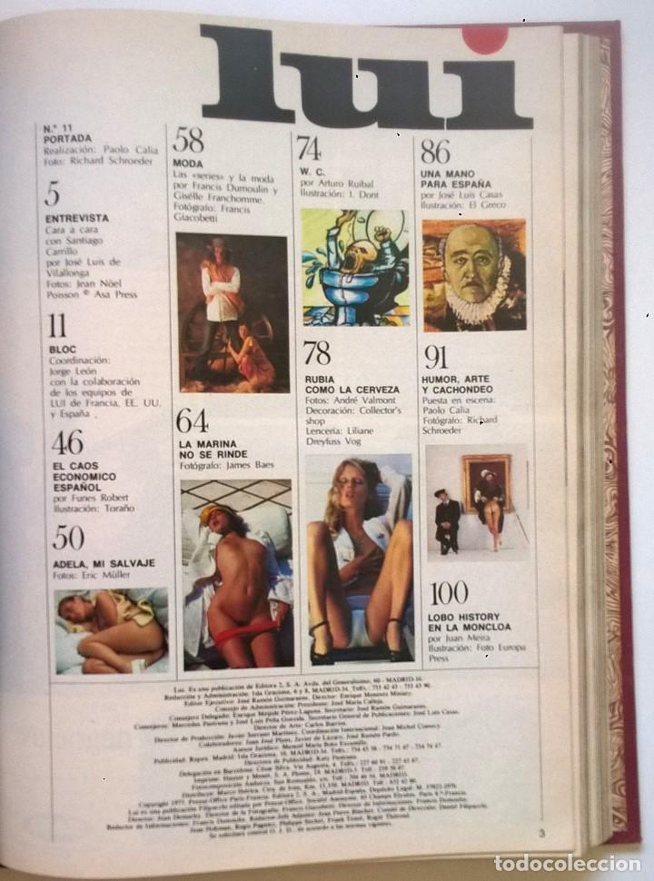 Revistas: ANTIGUA REVISTA ERÓTICA LUI - TOMO CON SEIS EJEMPLARES ENCUADERNADOS ( Nº 7 AL 12 ) - AÑO 1977 - Foto 15 - 135462170