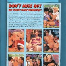 Revistas: REVISTAS PARA ADULTOS CONTIENE 40 PÁGINAS TÍTULO ANAL SEX EXTRANJERA Nº 83 DEL AÑO 1992. Lote 140076158